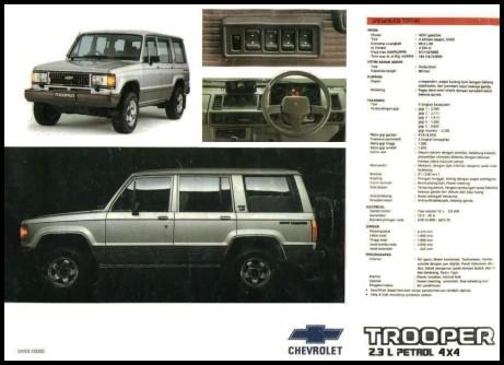 Sejarah Chevrolet Trooper Indonesia Jipmania